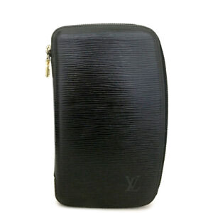 Louis Vuitton Epi Agenda Geode Black Leather Notebook Cover /A0146