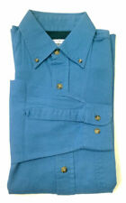 Casuals Mens Shirt Classic Fit Button Collar Heavy Cotton Blue S