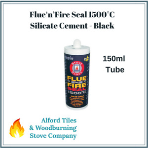 Silicate Cement Flue Seal Silicone 1500°C Fire Proof Sealant - Stoves - Black