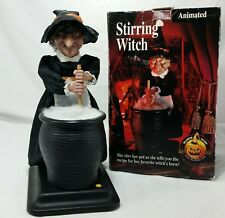 Gemmy Stirring Witch Halloween Factory Decoration Decor Sound Cauldron AS IS