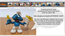Vintage Peyo / Schleich Smurfs French Fries Smurf Released 1980's/90's