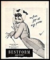 1944 GEORGE PETTY Pin Up Art Original Bestform Bra Girdle Vintage Lingerie AD