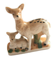 Deer Fawn Figurine Porcelain Ceramic DB Mark Japan Hand Painted 3""