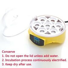 7-Egg Mini Practical Poultry Electric Incubator Bird Chicken Yellow Us Standard