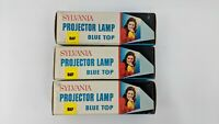 Lot of 3 Sylvania Blue Top Projector Lamp Bulb DAF 120v 300 Watts Slide Movie