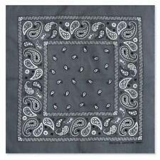 12 Grey Gray Paisley Bandana Cotton Face Mask Cover HeadWrap Scarf Lot Bandanna