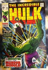 INCREDIBLE HULK #123 (1970) - Leader / Trimpe - Marvel Comics