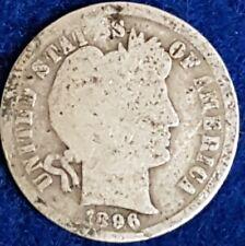 1896 Silver Barber Dime  ID #54-29