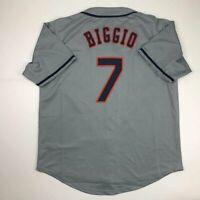 New CRAIG BIGGIO Houston Grey Custom Stitched Baseball Jersey Size Men's XL