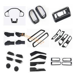 29PCS Carbon Fiber Look Car Interior Kit Cover Trim For Ford Explorer 2020 2021