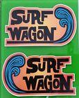 2 x SURF WAGON Vinyl Sticker Decal Longboard Surfing Surfboard Rat Fink Surf VW