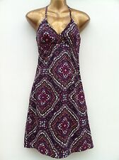 NWOT H&M Cotton Halterneck Summer Dress Size UK 6 (US 4) Psychedelic Purple Mix