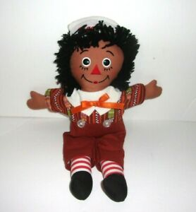 Applause Hasbro Black African American Raggedy Andy Ethnic Clothing Plush Doll