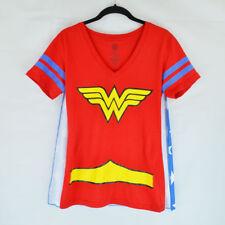 DC Comics Wonder Woman Shirt and Cape - Womens Size Medium - Costume - V neck