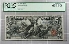 Fr. 269 1896 $5 Educational  Silver Certificate PCGS Choice New 63 PPQ