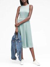Banana Republic Light Jade Paneled Midi Dress NWT! 4 Tall