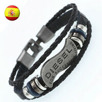 Pulsera para Hombre Unisex Brazalete de Cuero Moda Joyeria Mens Bracelet