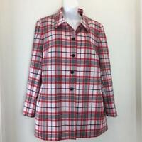 NEW $158 TALBOTS Petites Stretch Plaid Shirt Jacket  Size 14P NWT