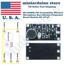 88-108MHz FM Transmitter Wireless Microphone Surveillance Bug Board Module 2V-9V