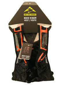 Nike Trail Running Kiger Vest(Brand🔥New)size L 🔥Black/Orange Crimson🔥Unisex