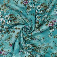"""43 """"Wd Stoff Baumwolle Floral Bedruckt Nähen Blaugrün Kissen Vorhang Von Der Hof"""