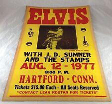 1977 ELVIS PRESLEY J.D. SUMNER & STAMPS ROCK MUSIC LARGE PAPER CONCERT POSTER