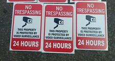 VIDEO SURVEILLANCE Security Decal  Warning Sticker cctv(24hrs 2.25x3.33)set of 3