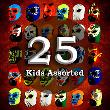 MRMASKMAN 25 COMBO PACK CHILDREN LUCHADOR PARTY MASKS MEXICAN WRESTLING LUCHA