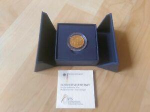 """BRD - 50 Euro Goldmünze 2019 """"A"""" (Hammerflügel) - 999,9er Gold 1/4 Unze (7,78 gr"""