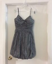 TRACY REESE pinstripe Ruched Fitted Bodice Bubble Dress Sz 4