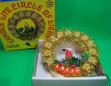 Vintage Tree Topper Circle of Lights Candle Holly Works Lights Flashes Org Box