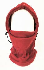 Thermal Fleece Balaclava Hat Hood Ski Wind Stopper Face Mask C-104 Red