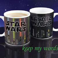 Star wars Topic Lightsaber Heat sensitive Color change Coffee mug cup fans gift