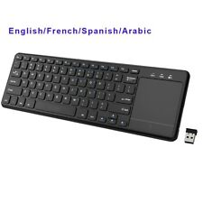 Touchpad Wireless Keyboard 2.4Ghz For Windows PC Laptop Smart TV HTPC IP Touch