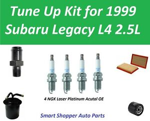 Tune Up Kit for 1999 Subaru Legacy L4 2.5L PCV Valve, Spark Plug, Air Oil Filter