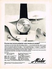 PUBLICITE ADVERTISING 054  1964  MIDO  montre  étanche   OCEAN STAR
