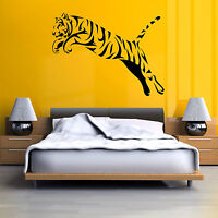 TIGER JUMPING Vinyl wall art sticker decal