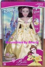 Disney Doll Princess Belle Porcelain Brass Key Rare Mib Vintage