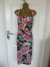 "Joe Browns Wiggle Dress UK12-14 in a multicolour Floral mix  Bust 38"" Unlined"