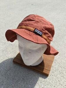 PATAGONIA Cap Hat Patagonia Nylon Bucket Hat Light Weight Orange