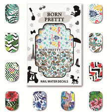 Water Decal Nail Art Transfer Sticker Decoration BPY31-35 5 Sheets BORN PRETTY