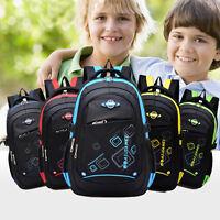 Students Boys Girls Waterproof Backpack School Bookbag Rucksack Shoulder Bag