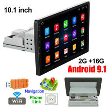 """10.1"""" Single 1Din Android 9.1 Car Stereo Radio GPS Wifi OBD2 Mirror Link Player"""