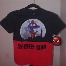 Brand New Boy's Marvel Spider-Man Homecoming T-Shirt Black/Red. Size SMALL