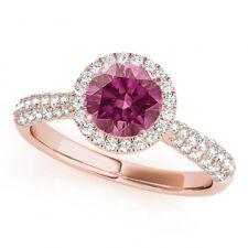 0.88 Ct Pink Diamond HPHT Ring 14k Rose Gold Valentine Day Spl.Sale