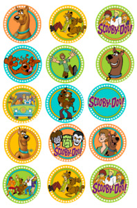 15 Pre-Cut Edible Icing Scooby Doo Cupcake Cake Icing Toppers
