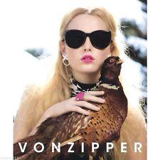 Authentic Women's VZ Von Zipper Updo Black Sunglasses. RRP $159.99. NWT.