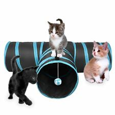 Pet Dog Cat Collapsible Tunnel Kitten Y-Shape Training Toy Pop Up Tube UK Stock