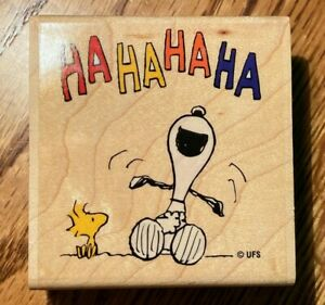"""*NEW* """"Peanuts"""" Stampabilities """"Snoopy Laughing"""" wooden rubber stamp G1038"""