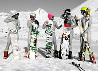 Camera Bag Naked Snowboarders Greeting Card Blank Inside Greetings Cards